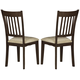 Homelegance Worcester Side Chair in Warm Brown Cherry (set of 2) 5367S