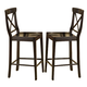 Homelegance Blossom Hill Counter Height Chair in Dark Espresso (set of 2) 5385-24