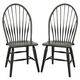 Broyhill Attic Heirlooms Windsor Side Chair in Antique Black 5397-85B (Set of 2)