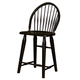 Broyhill Attic Heirlooms Windsor Counter Stool in Antique Black 5397-97B (Set of 2)