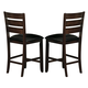 Homelegance Ameillia Counter Height Chair in Dark Oak (set of 2) 586-24