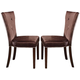 Acme Kingston Side Chairs in Brown Cherry 60024 (Set of 2)