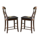 Homelegance Kinston Counter Height Chair in Distressed Oak (set of 2) 630-24