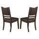 Homelegance Neely Side Chair in Dark Brown Cherry (set of 2) 638S