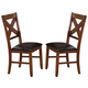 Acme Apollo X-Back Side Chair (Set of 2) in Walnut 70003