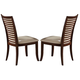 Acme Pacifica Side Chairs in Beige-Cherry 70022 (Set of 2)