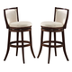 Acme Pacifica Bar Chairs with Ladder Back 70028 (Set of 2)