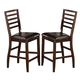 Acme Theodora Counter Height Chairs in Walnut 70032 (Set of 2)