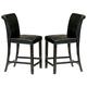Homelegance  Sierra Counter Height Chair in Ebony (set of 2) 722PU-24