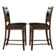 Homelegance Verona Counter Height Chair in Distressed Amber (set of 2) 727-24