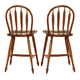 Liberty Furniture Low Country Windsor Back Barstool in Suntan Bronze Finish 76-B100024 (Set of 2)