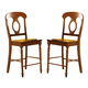 Liberty Furniture Low Country Napoleon Back Barstool (RTA) in Suntan Bronze Finish 76-B550024 (Set of 2)