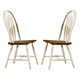 Liberty Furniture Low Country Windsor Back Barstool in Linen Sand with Suntan Bronze Finish 79-B100024 (Set of 2)