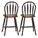 Liberty Furniture Low Country Windsor Back Barstool in Anchor Black with Suntan Bronze Finish 80-B100024 (Set of 2)