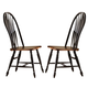 Liberty Furniture Low Country Windsor Back Side Chair in Anchor Black with Suntan Bronze Finish 80-C1000S (Set of 2)