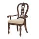Samuel Lawrence Funniture Edington Upholstered Arm Chair in European Cherry (Set of 2) 8328-155