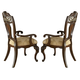 Samuel Lawrence Furniture Baronet Upholstered Arm Chair in Dark Birch (Set of 2) 8366-155