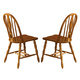 Liberty Furniture Country Haven Windsor Side Chair in Spice Finish 85-C1465S (Set of 2)