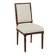 Kincaid Artisan's Shoppe Solid Wood Upholstered French Side Chair in Tobacco (Set of 2) 90-2416