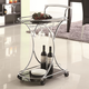 Coaster Serving Cart with 2 Black Glass Shelves 910001