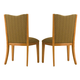 Kincaid Highland Park Solid Wood Upholstered Back Side Chairs in Light Walnut (Set of 2) 97-065