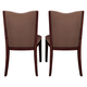 Kincaid Highland Park Solid Wood Upholstered Back Side Chairs in Dark Merlot (Set of 2) 98-065
