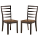 Alonzo Side Chair in Brown (Set of 2)