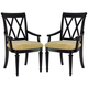 American Drew Camden Splat Arm Chairs in Black (Set of 2) CODE:UNIV20 for 20% Off