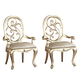 American Drew Jessica McClintock Couture Silver Leaf Arm Chair (Set of 2)