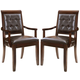 American Drew Tribecca Upholstered Leather Arm Chair (Set of 2)