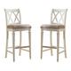 American Drew Camden Barstool Bar Height in White (Set of 2)