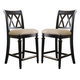 American Drew Camden Barstool Counter Height in Black (Set of 2)