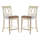 American Drew Camden Barstool Counter Height in White (Set of 2)