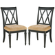 American Drew Camden Splat Side Chairs in Black (Set of 2)