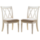 American Drew Camden Splat Side Chairs in White (Set of 2)