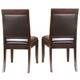 American Drew Tribecca Upholstered Leather Side Chair (Set of 2)
