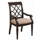 Aspenhome Young Classics Fret Back Arm Chair in Cobblestone Black I88-6600A-KD (Set of 2)
