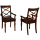 Aspenhome Cambridge Double X Arm Chair in Brown Cherry ICB-6670A-BCH (Set of 2)