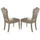 A.R.T. Provenance Upholstered Back Side Chair in Linen (Set of 2)