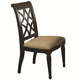 Aspenhome Young Classics Fret-Back Side Chair in Cobblestone Black I88-6600S-KD (Set of 2)