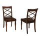 Aspenhome Cambridge Double X Side Chair in Brown Cherry ICB-6670S-BCH (Set of 2)