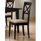 Coaster Rich Cappuccino Side Chair w/ Cross Back (Set of 2)