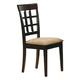 Coaster Rich Cappuccino Side Chair w/ Wheat Back (Set of 2)