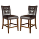 Lacey Upholstered Bar Stool in Brown (Set of 2) CLEARANCE