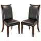 Charrell Upholstered Side Chair in Black (Set of 2)