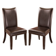 Charrell Upholstered Side Chair in Brown (Set of 2)