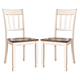 Whitesburg Dining Side Chair in Brown - White (set of 2)