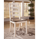 Whitesburg Ladderback Side Chair in Brown - White (set of 2) CLEARANCE