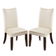 Charrell Upholstered Side Chair in Ivory (Set of 2)