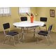 Coaster 5pc Oval Retro Dining Set with Black Chairs 2065BLK